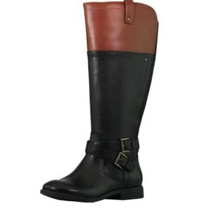 MARC FISHER AUDREY RIDING LEATHER BOOTS NWOT